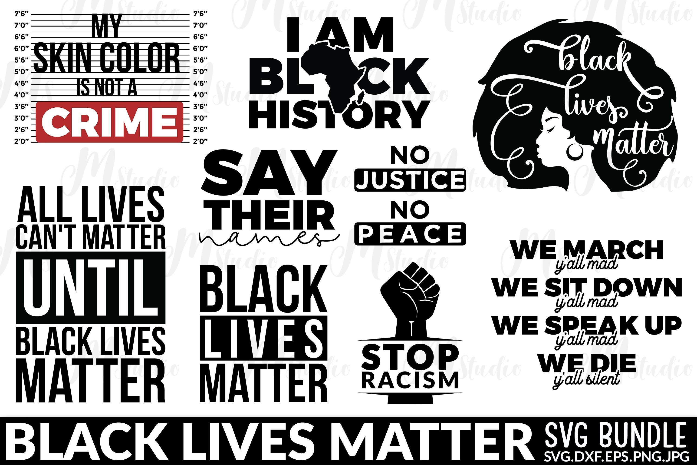 Black Lives Matter SVG Bundle example image 1