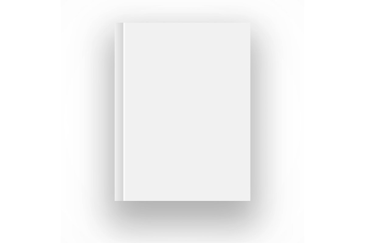 Blank book cover vector illustration gradient mesh. Isolated example image 1