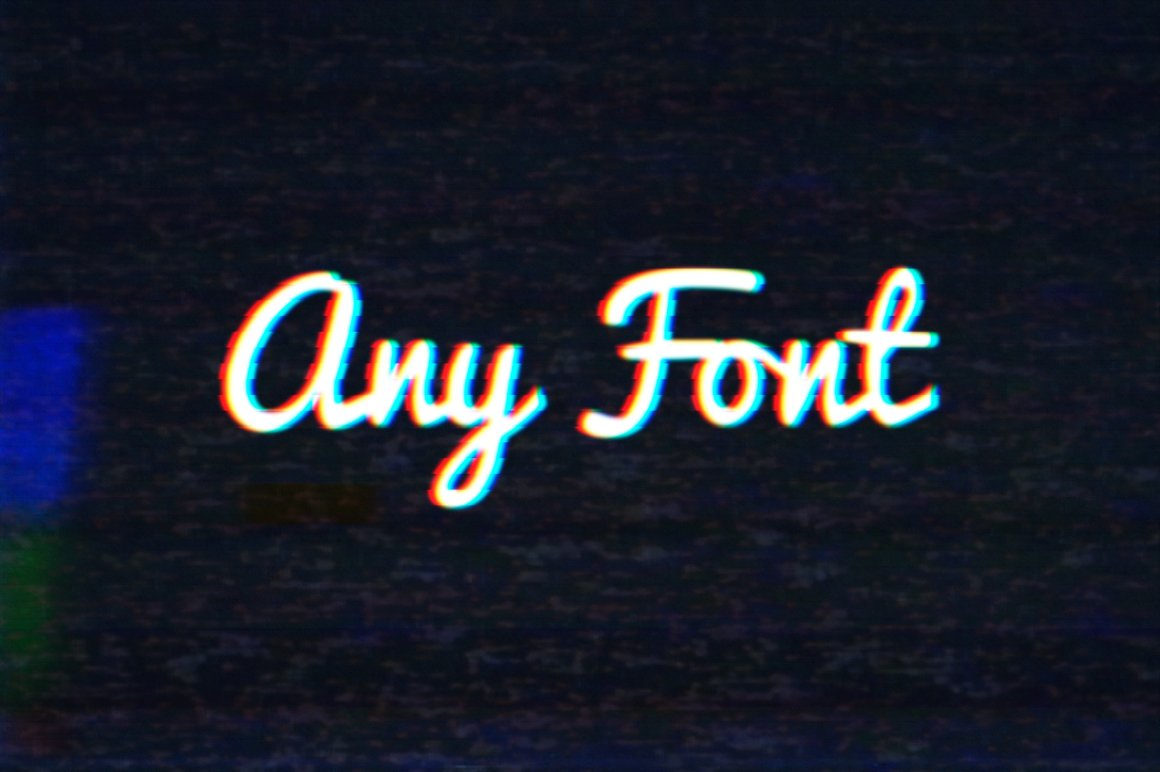 Glitch - Photoshop PSD Text Effect example image 4