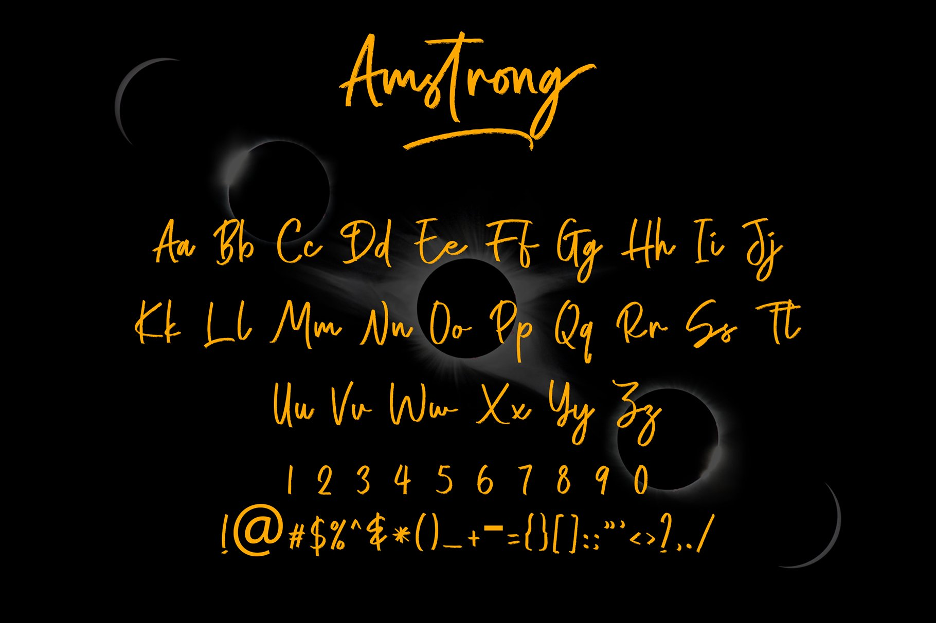Amstrong Beautiful Brush Font example image 5