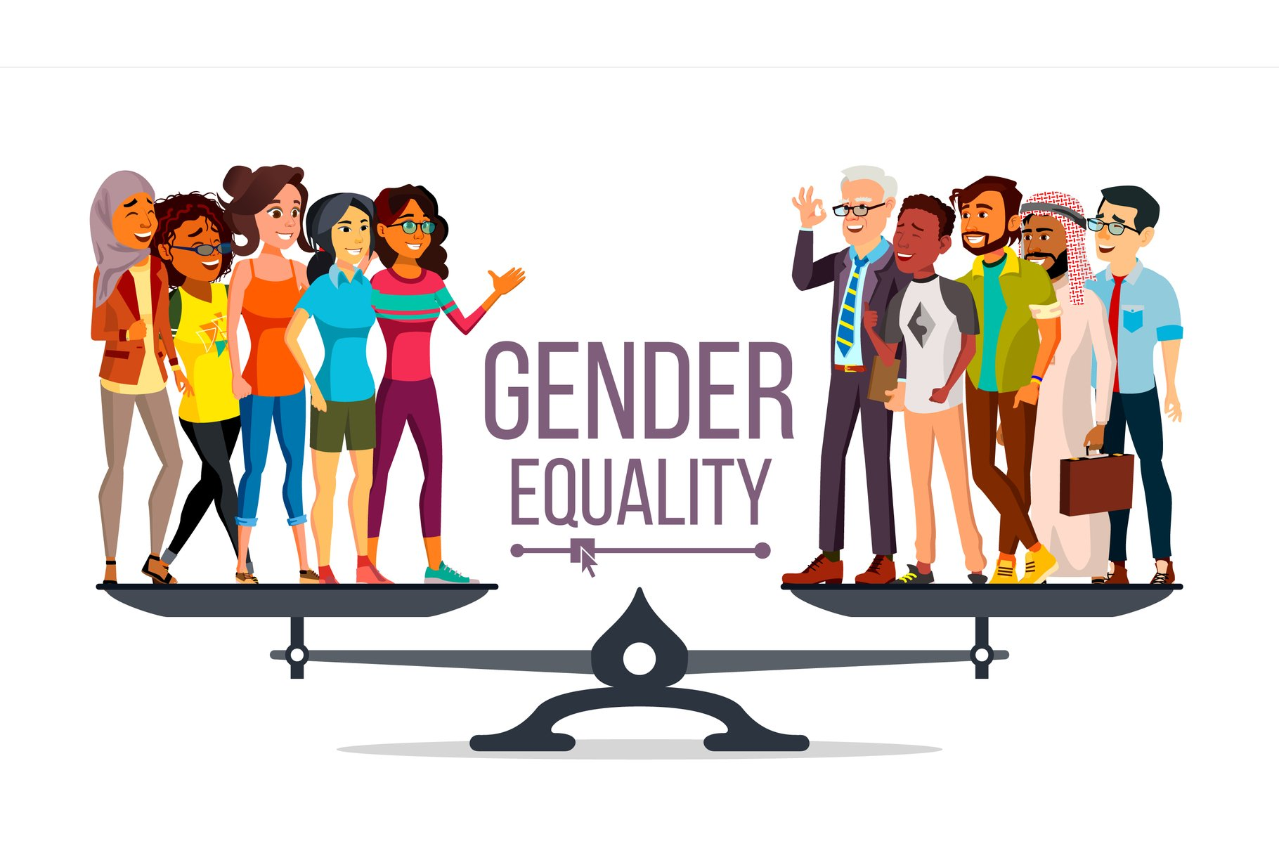 Gender Equality Vector. Man, Woman, Male example image 1