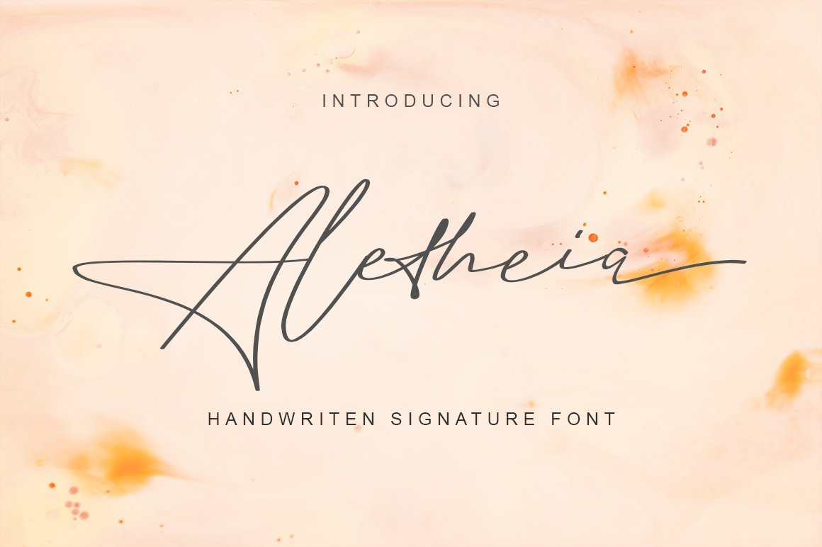 Aletheia | A Handwritten Signature Font example image 1