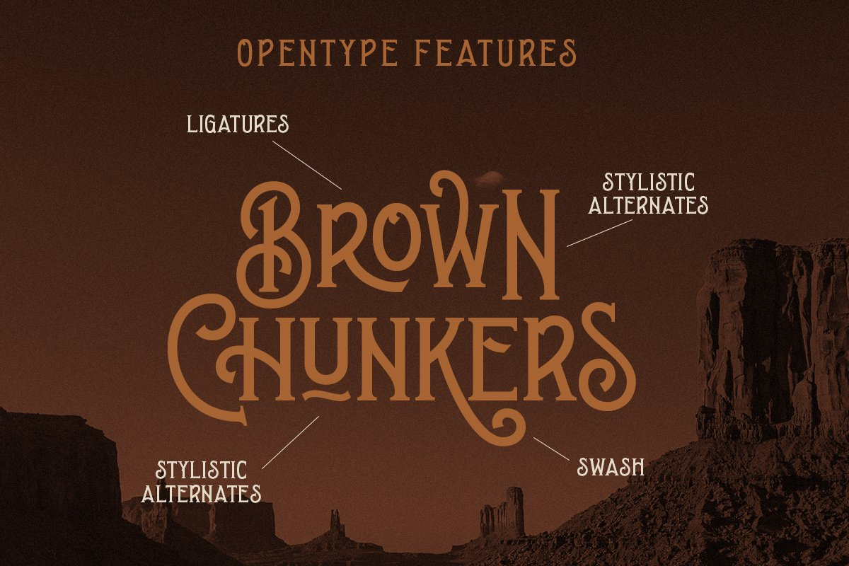Brown Chunkers - Display Typeface example image 8