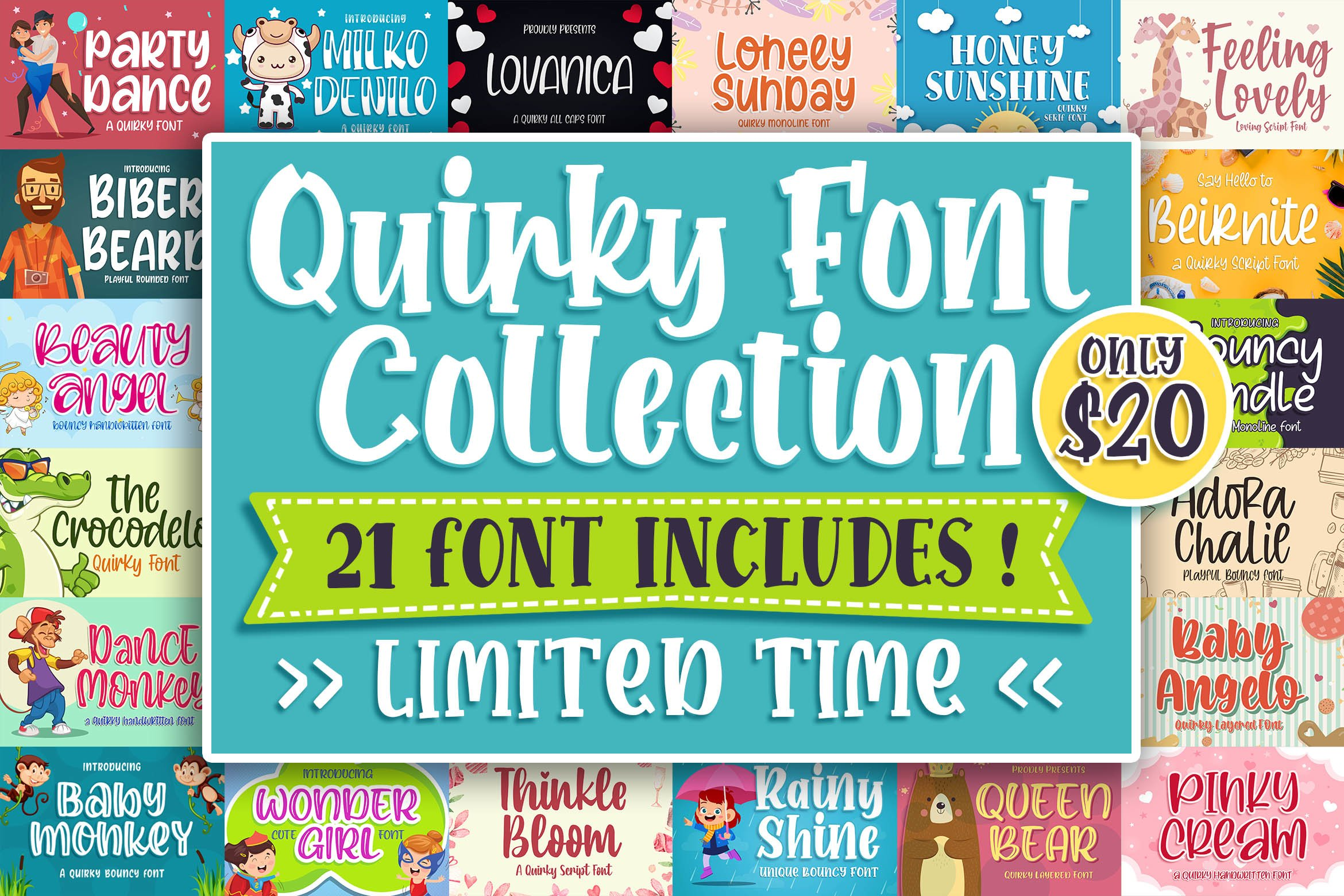 QUIRKY FONT COLLECTION example image 1