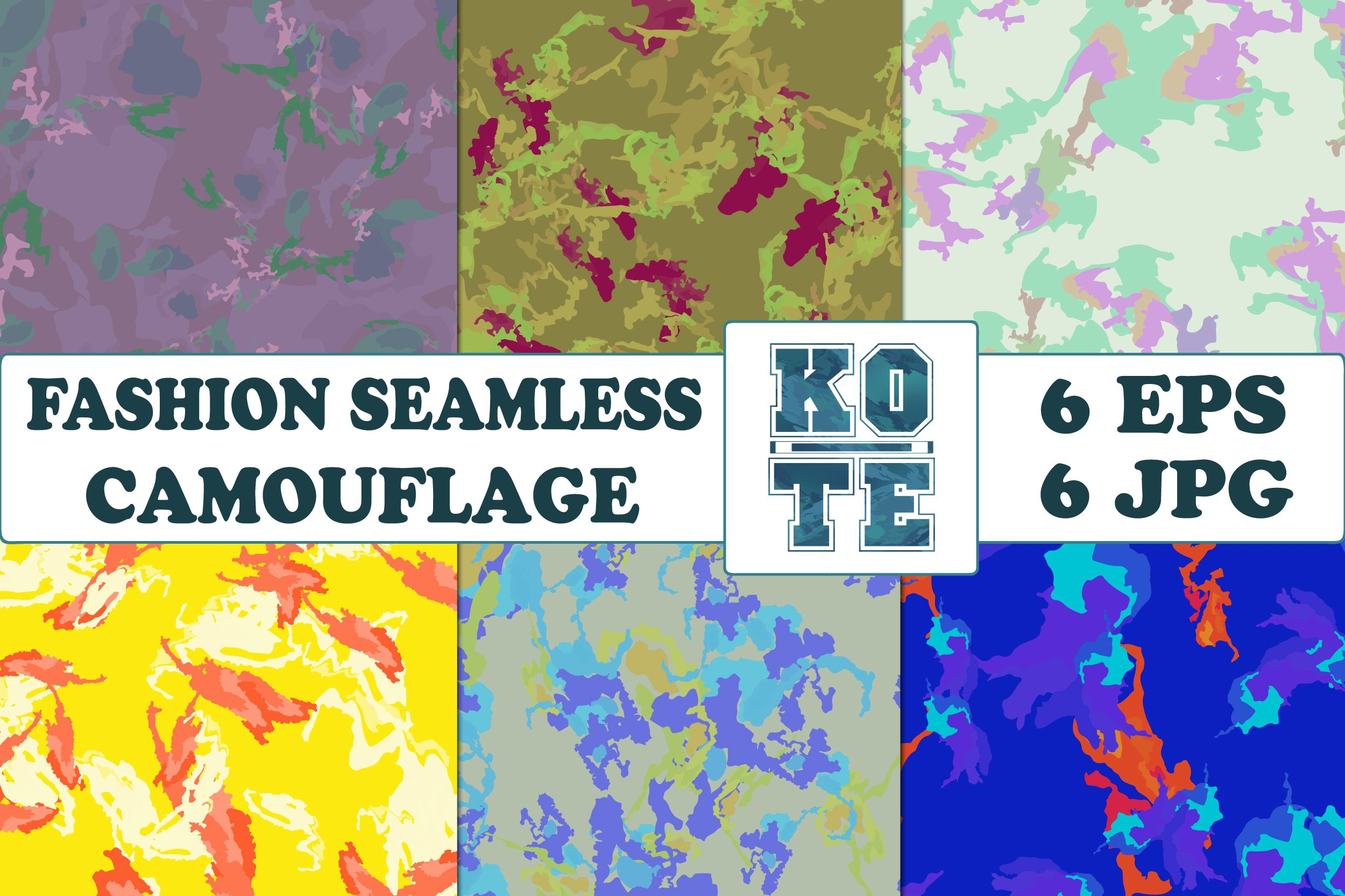 6 Seamless Fashion Camouflage example image 1