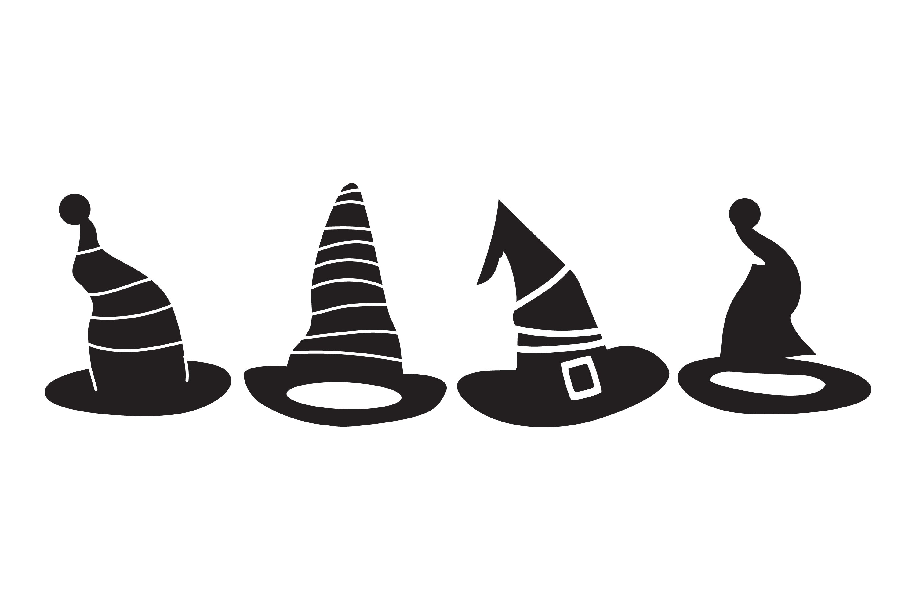 Witch Hat Silhouettes example image 1