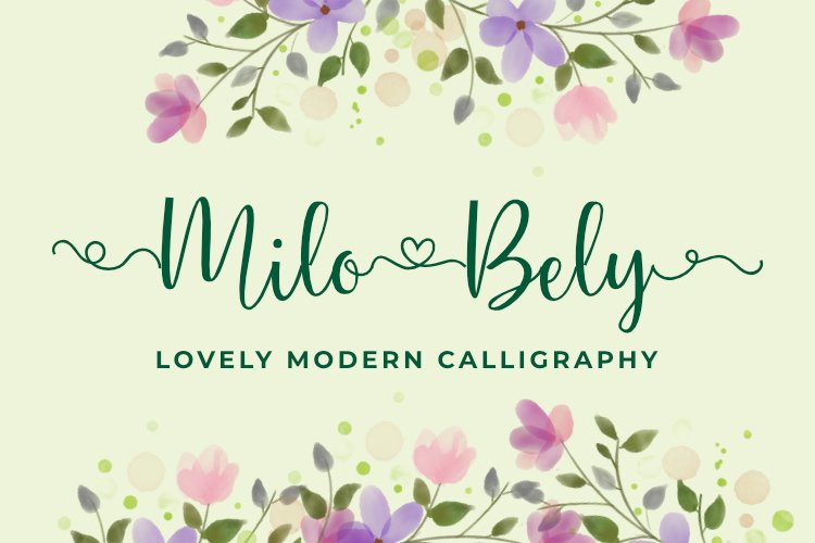 Milo Bely - Lovely Modern Calligraphy example image 1