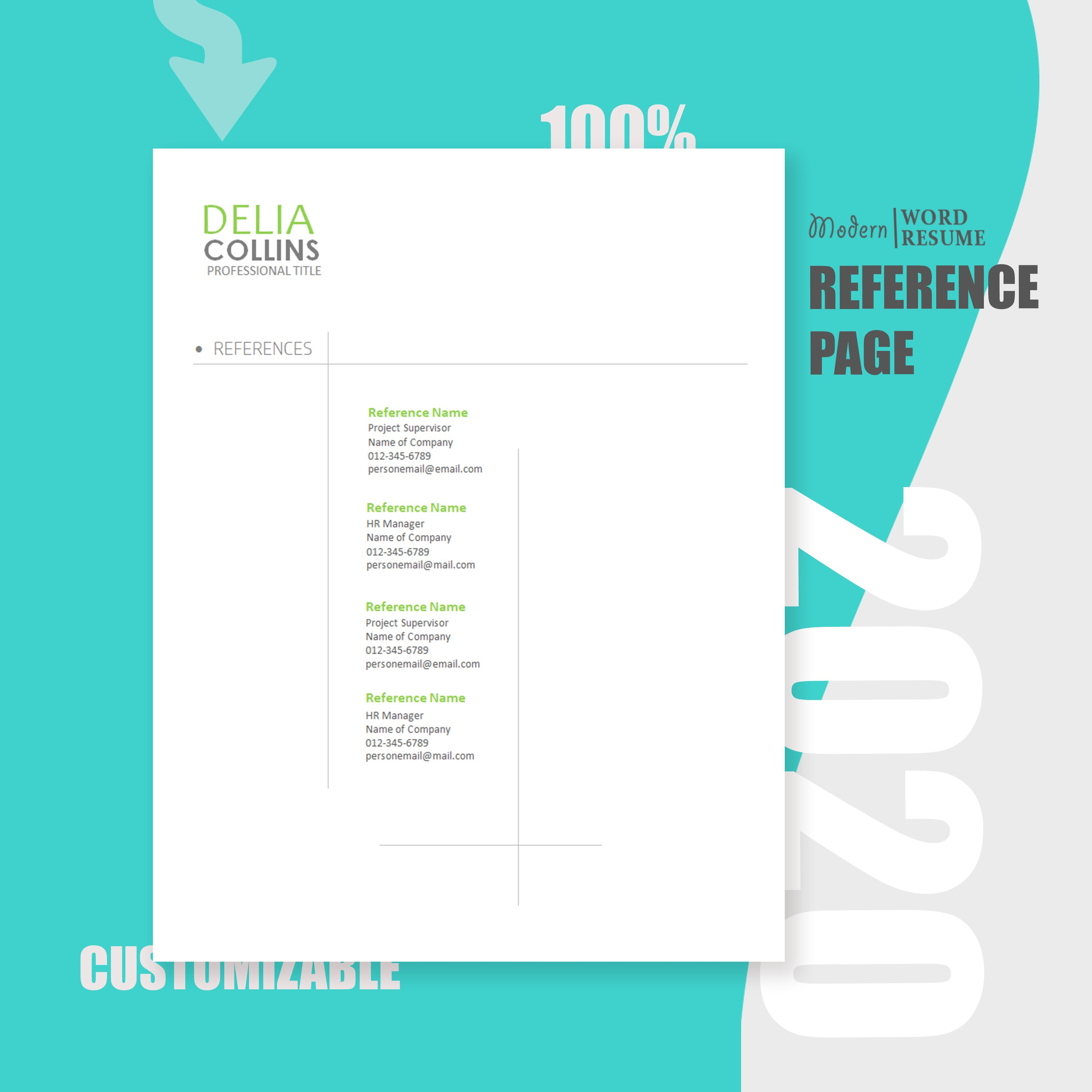 Resume Template   Cover Letter   Reference Page 2020 ...