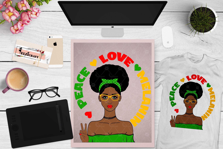 Afro Girl Peace Love Melanin Afro Hair Svg Cut File 710728 Cut Files Design Bundles