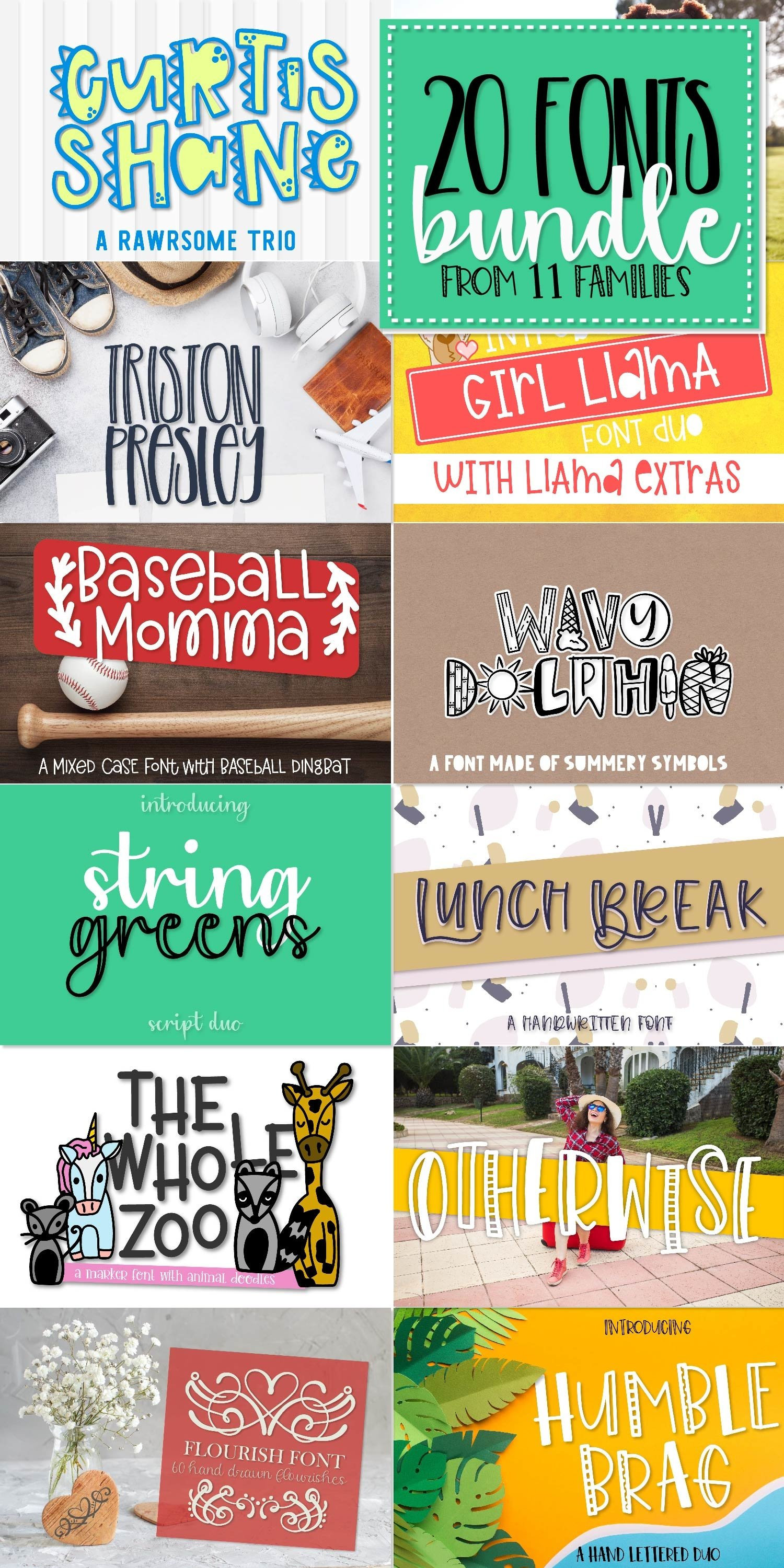 Bundle of 20 Craft Friendly Fonts! example image 13