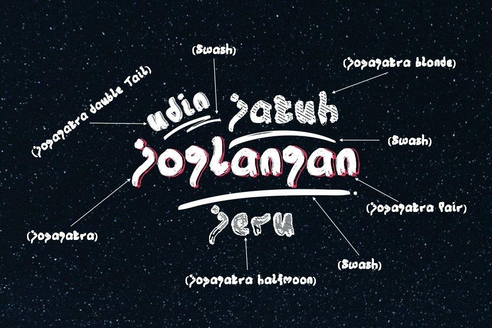 Joyagatra - 5 Font styles and 150 Swashes example image 3