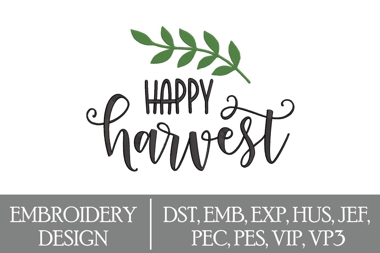 Happy Harvest Machine Embroidery Design example image 1