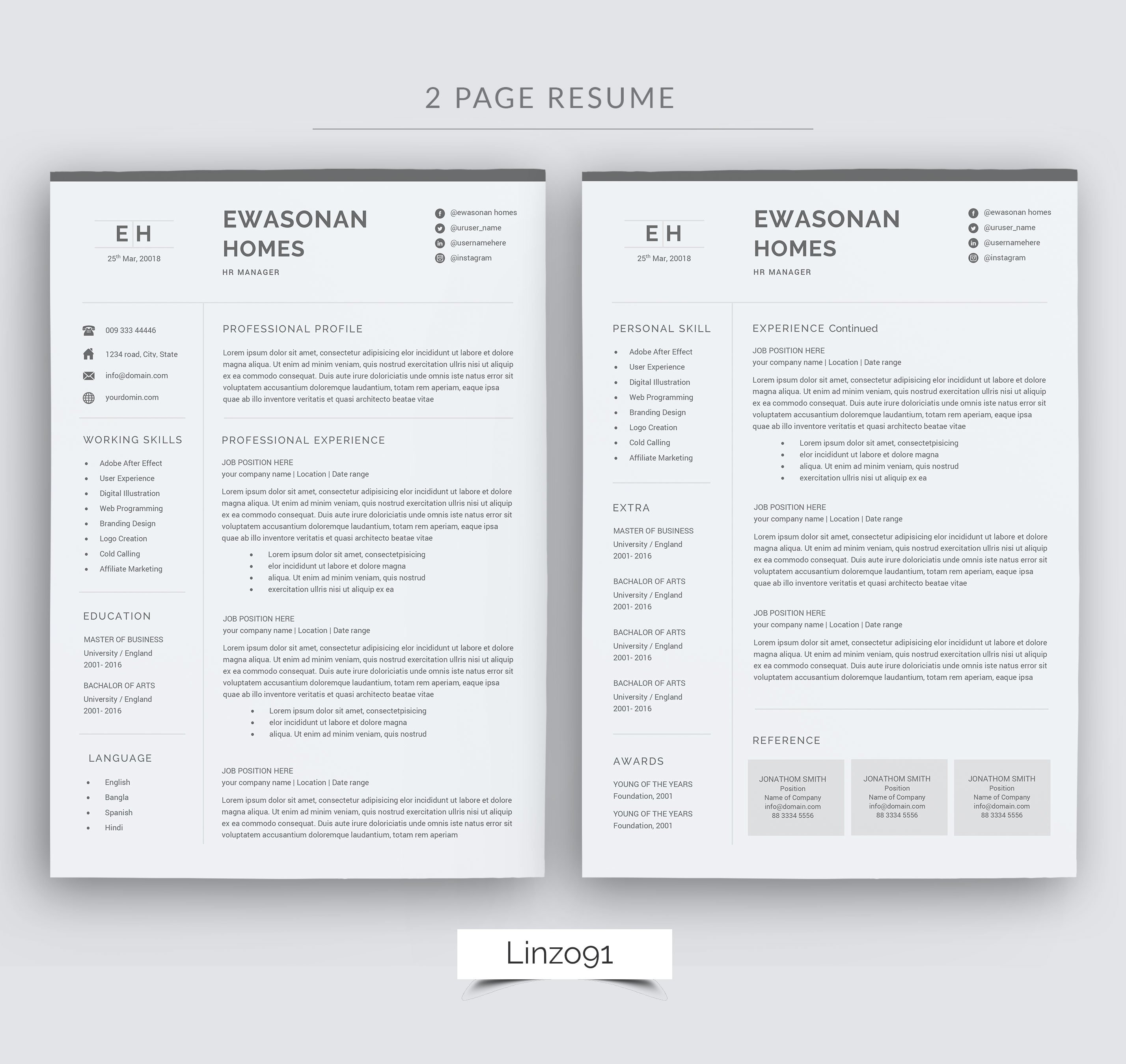 Pages Cv Template from i.fbcd.co