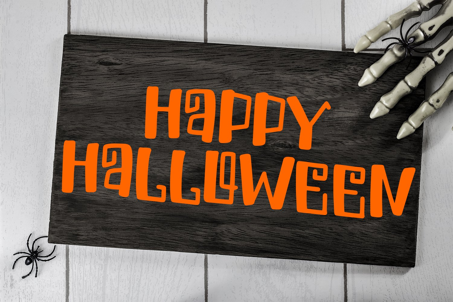 Spiders And Skeletons - A Spooky Hand-Lettered Font example image 2