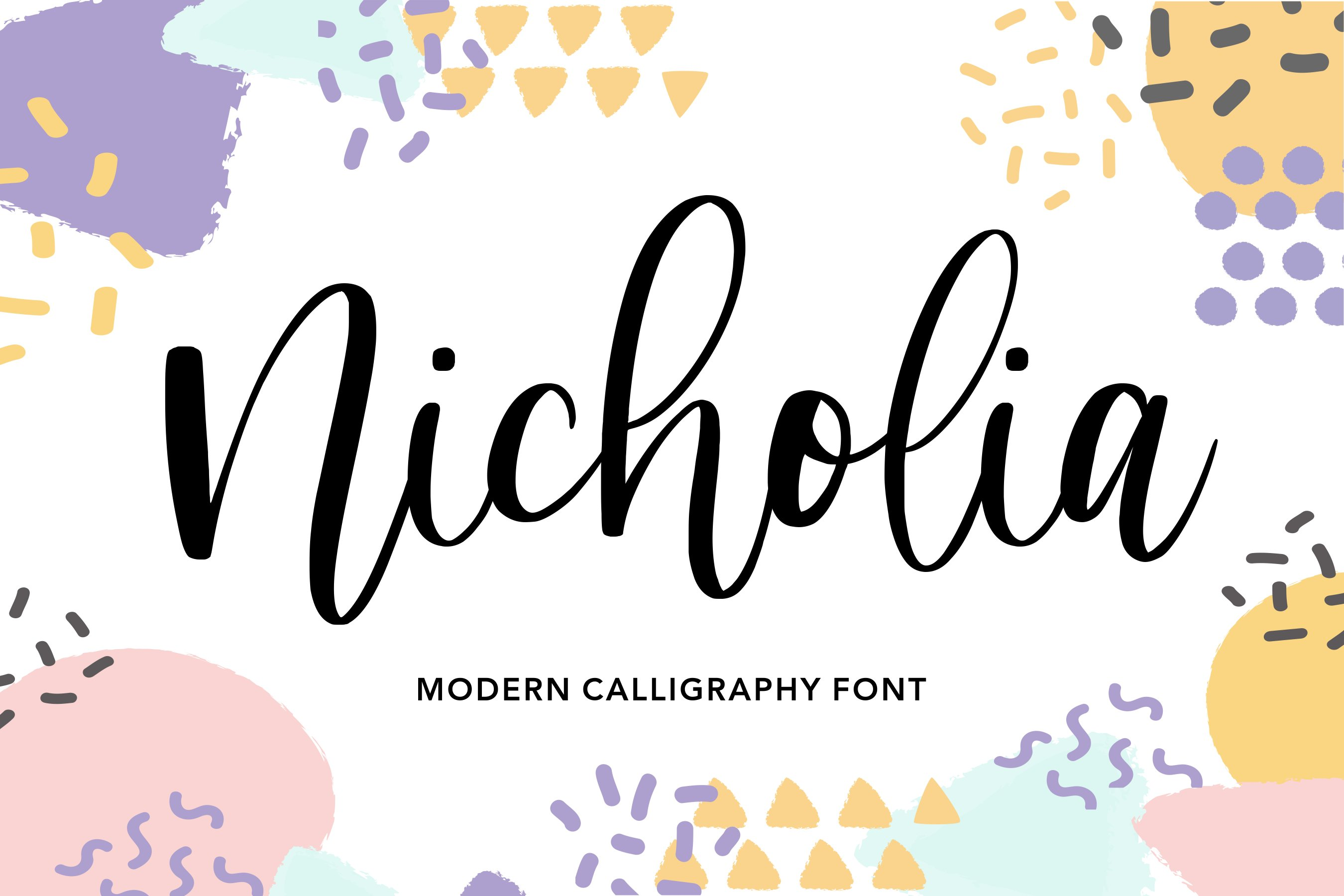 Nicholia Modern Calligraphy Font example image 1