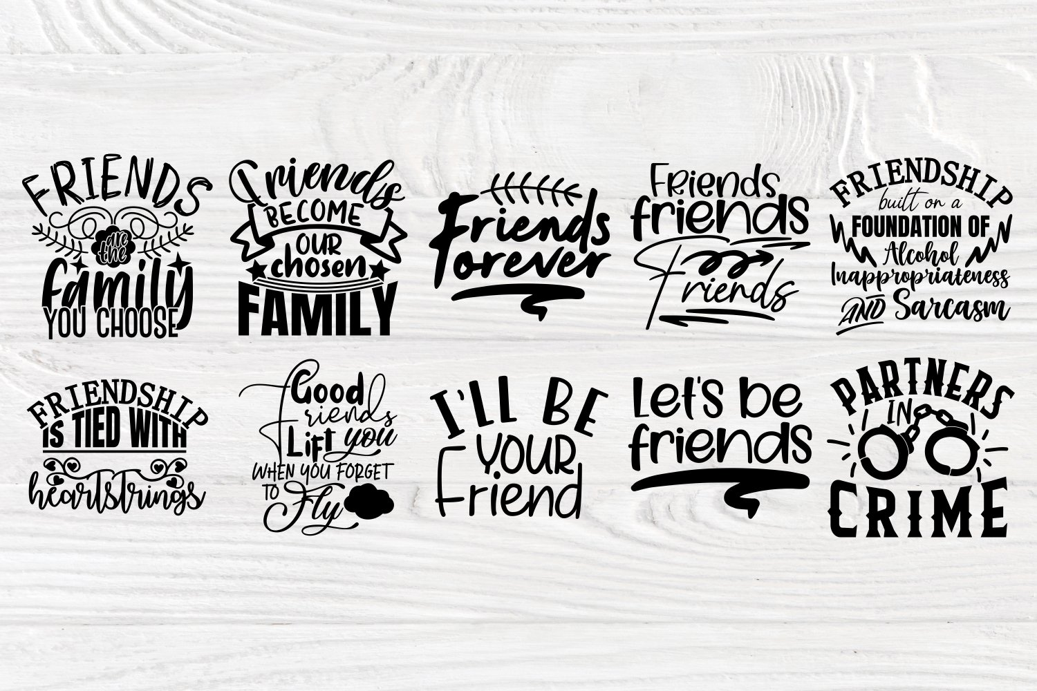 Friends Svg Cut Files, Friendship Svg Bundle, Shirt Designs example image 4