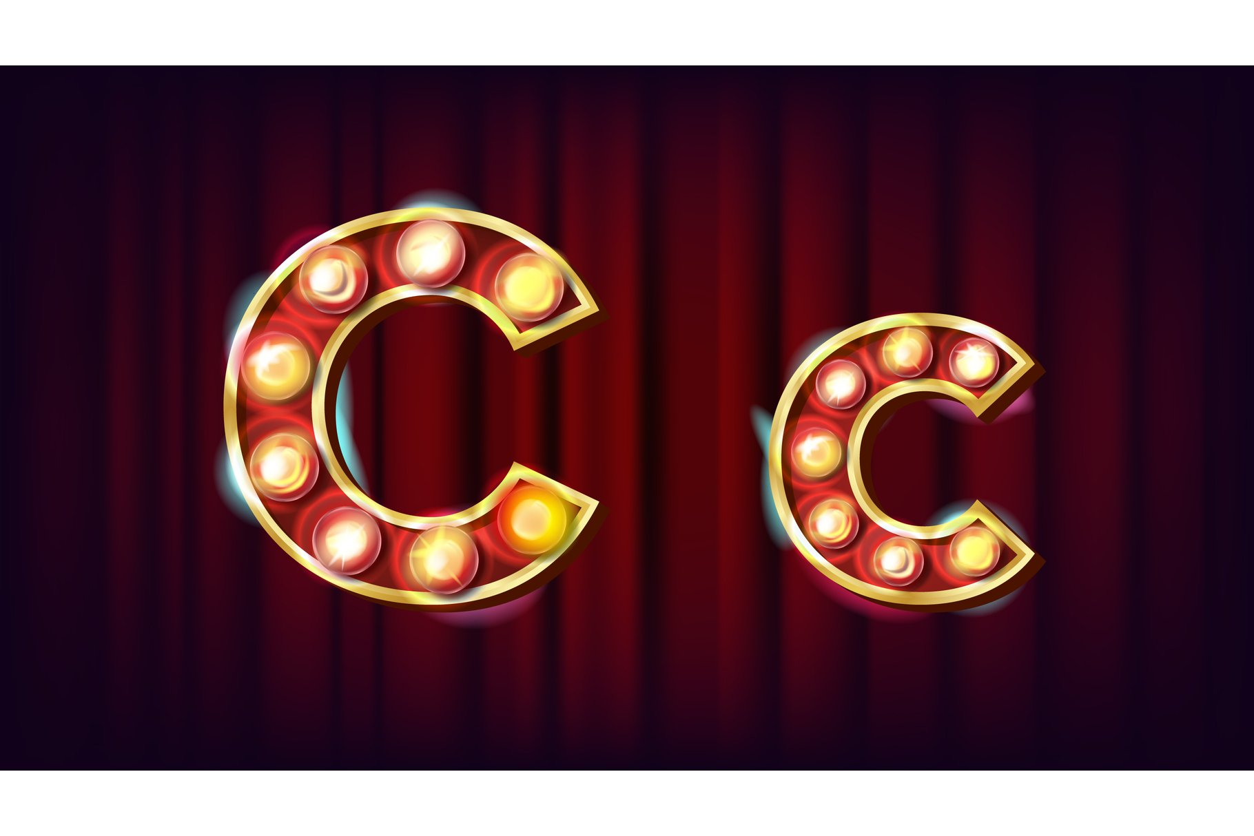 C Letter Vector. Capital example image 1
