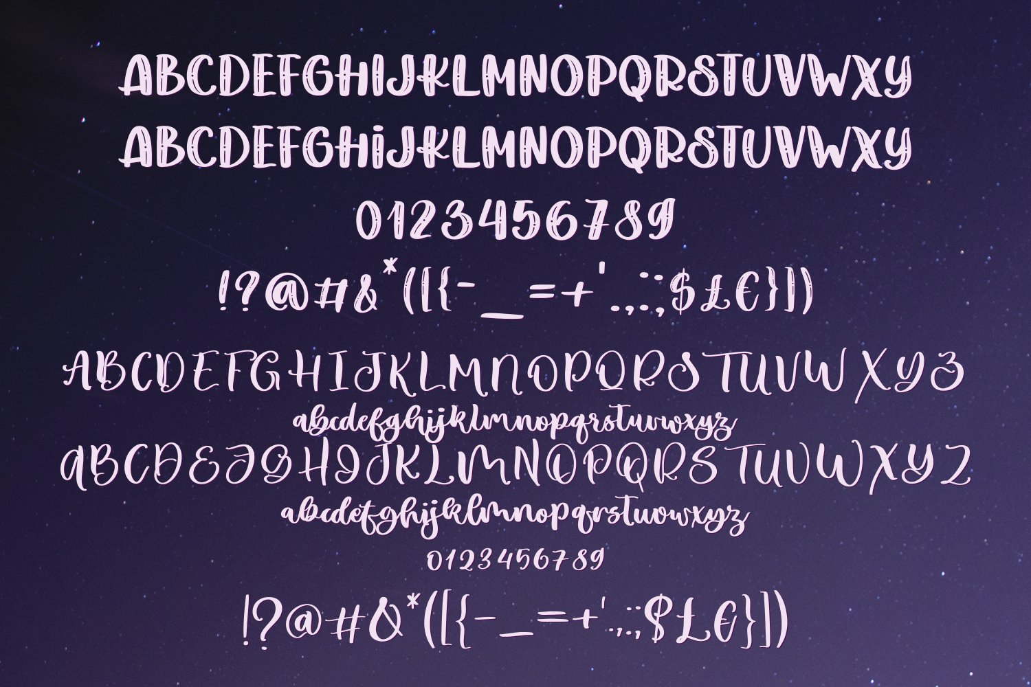 Blueberry Moon Font Duo example image 4
