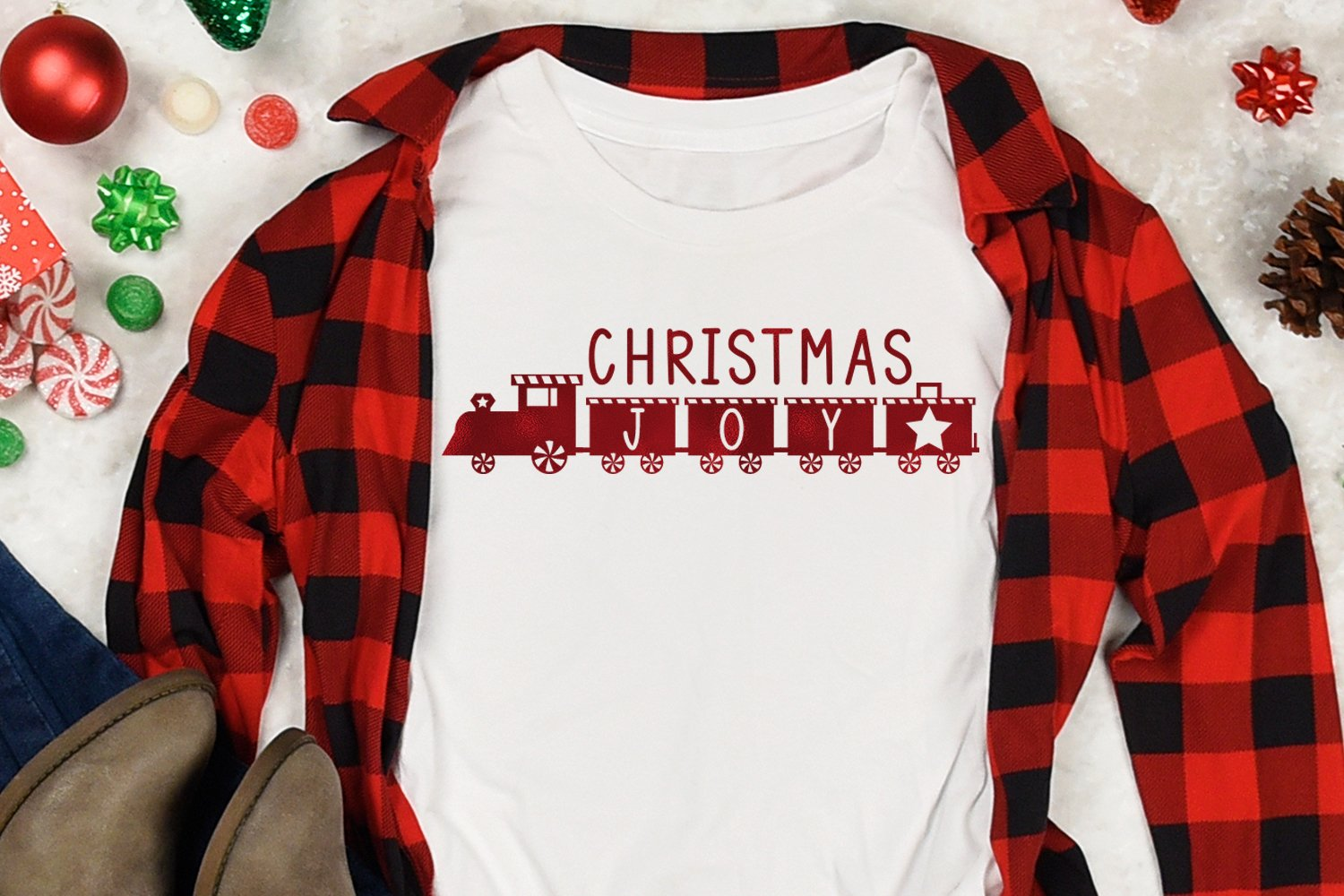 Christmas Train - A Fun Holiday Font example image 6