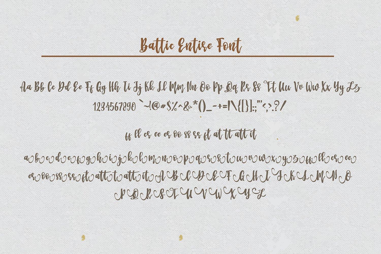 Battic Hand Written Font example image 8