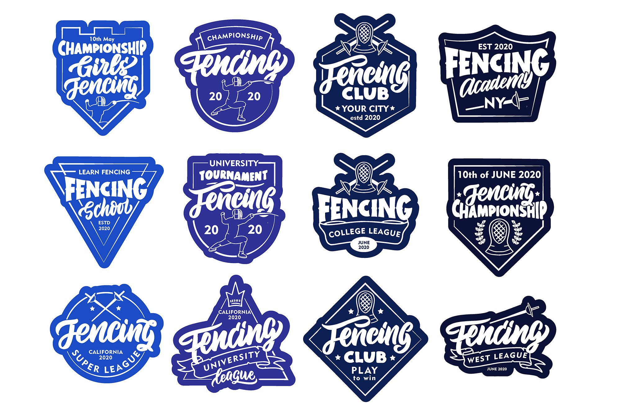 Set of Fencing logos example image 4