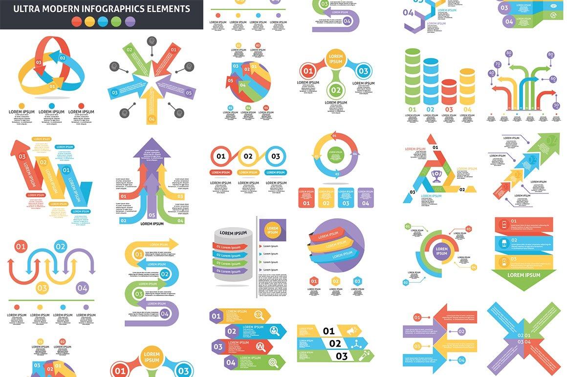 1000 Ultra Big Bundle Infographics Elements example image 15