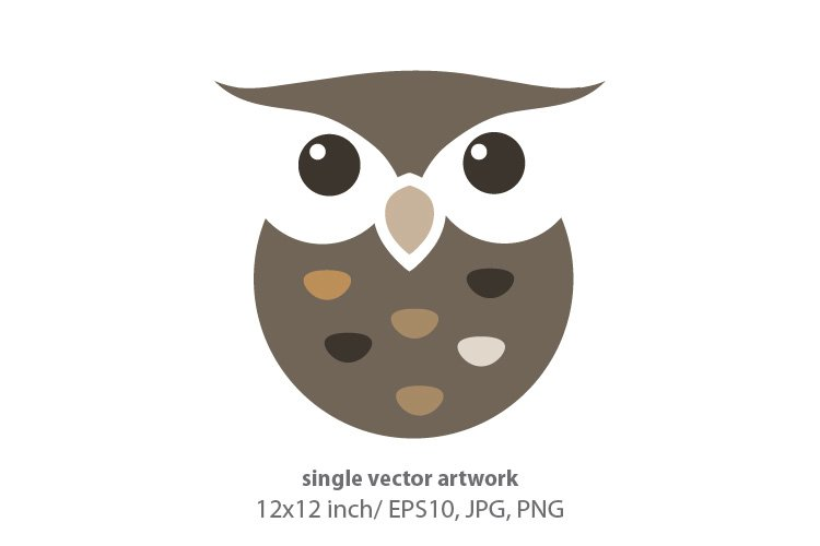 cute little owl - single vector artwork example image 1