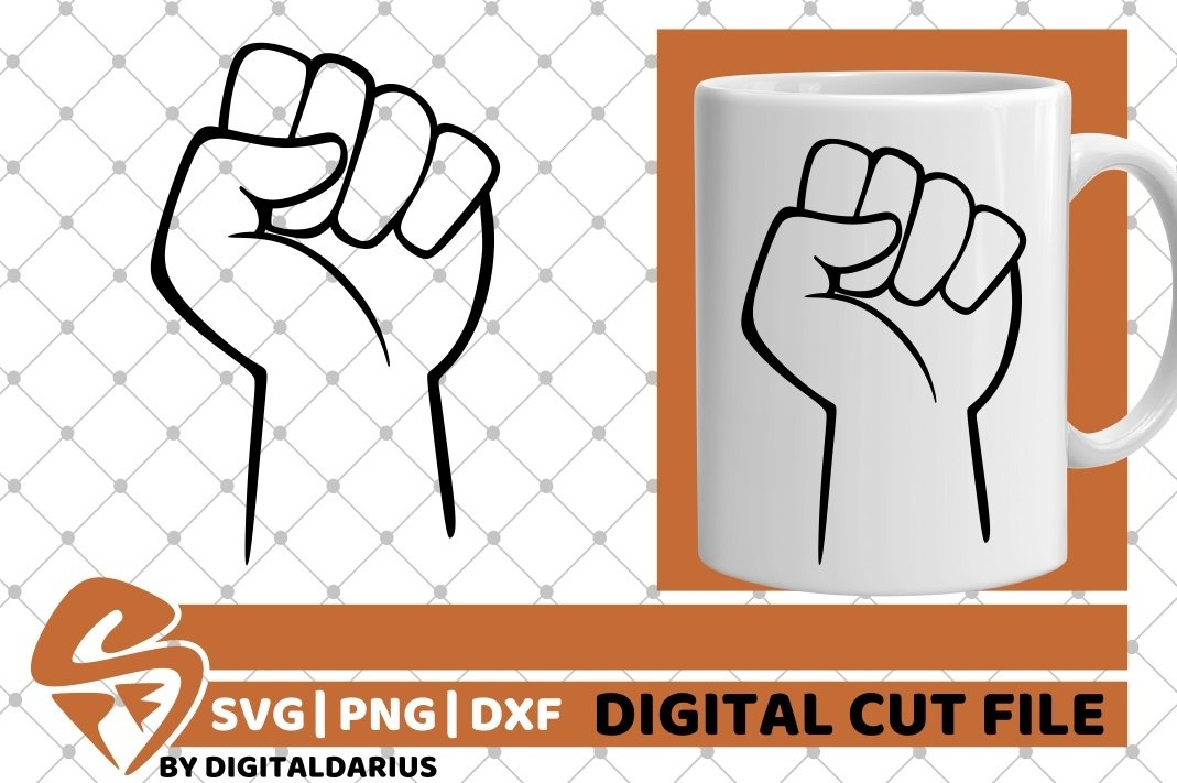 2x Fist Designs Bundle svg, Hand svg, Power svg, Black Man example image 3
