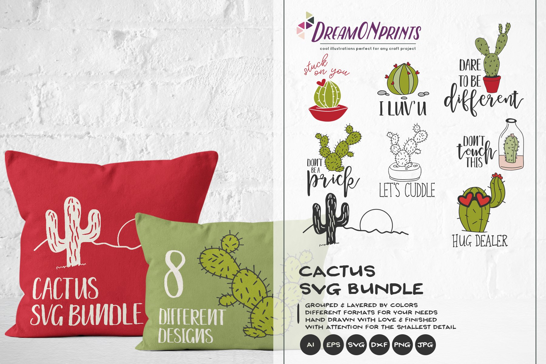 Cactus Svg Bundle Vector Cacti Svg Cut Files 192274 Illustrations Design Bundles