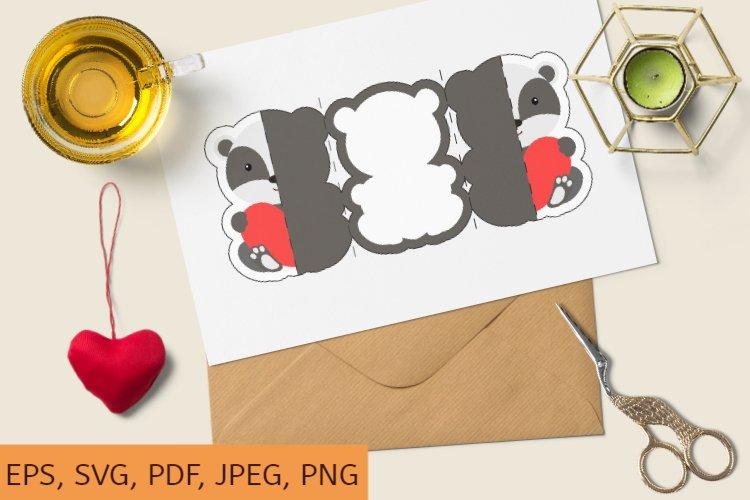 Download Valentine Day Invitation Card Template Badger With Heart Svg 1143702 Templates Design Bundles