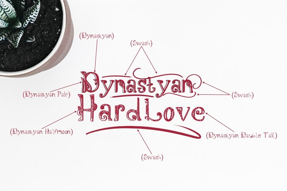 Dynastyan - 5 Font styles and 150 Swashes example image 3