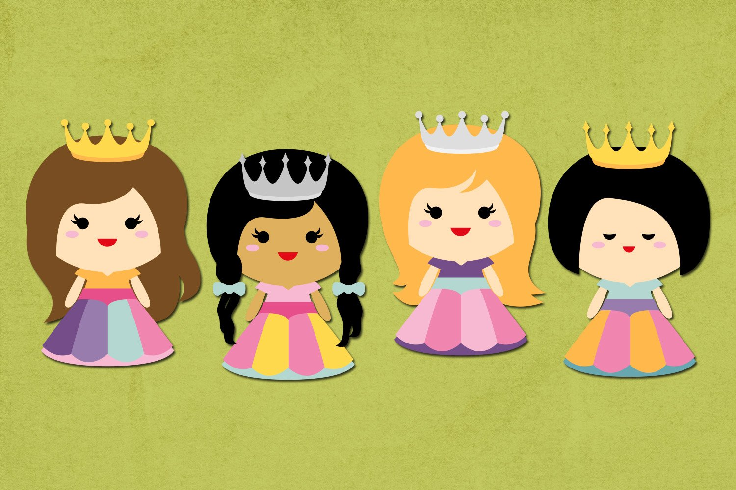 Princess and Castle Illustrations Clip Art example image 3