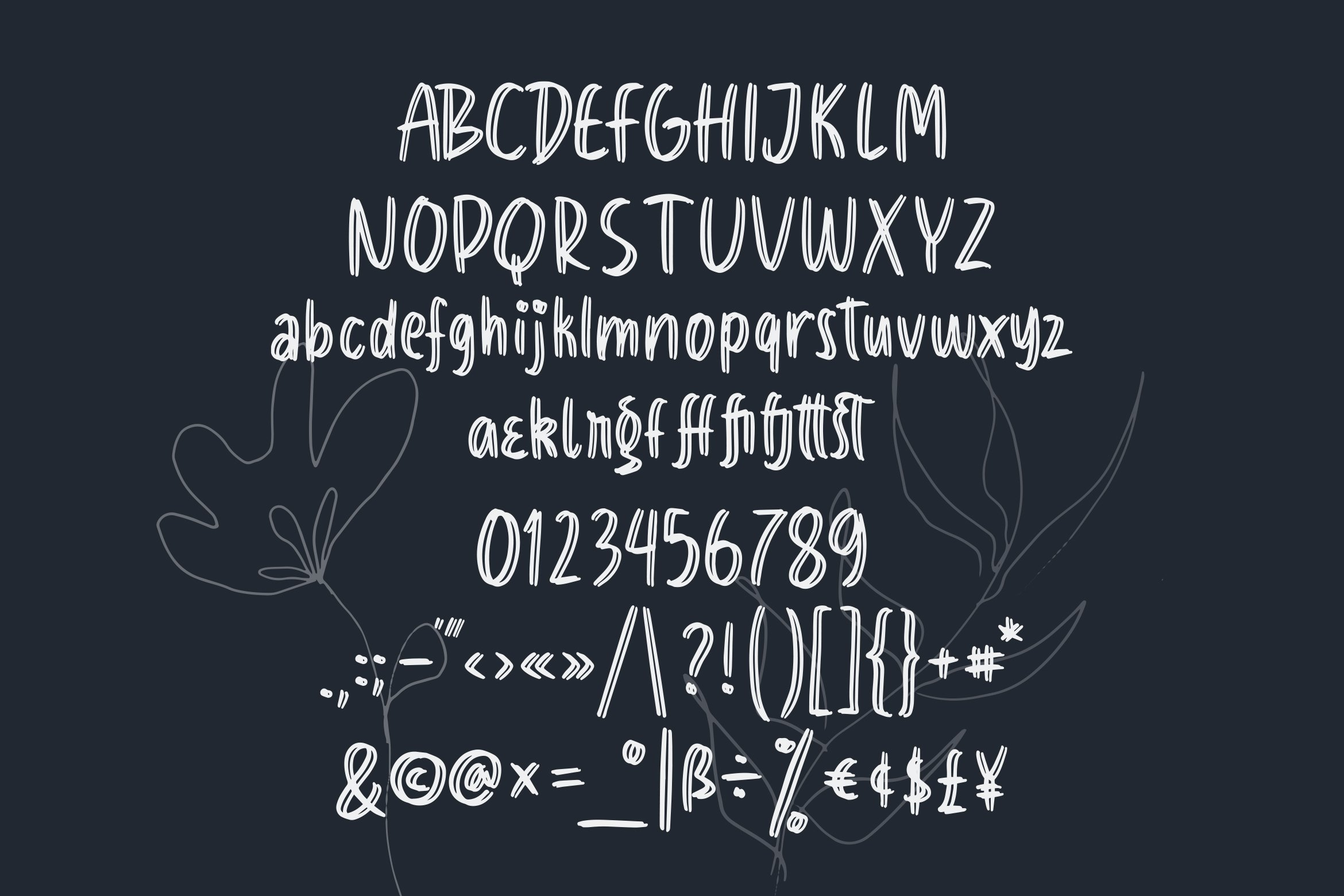 Dualista - Dual Brush Style Font example image 3