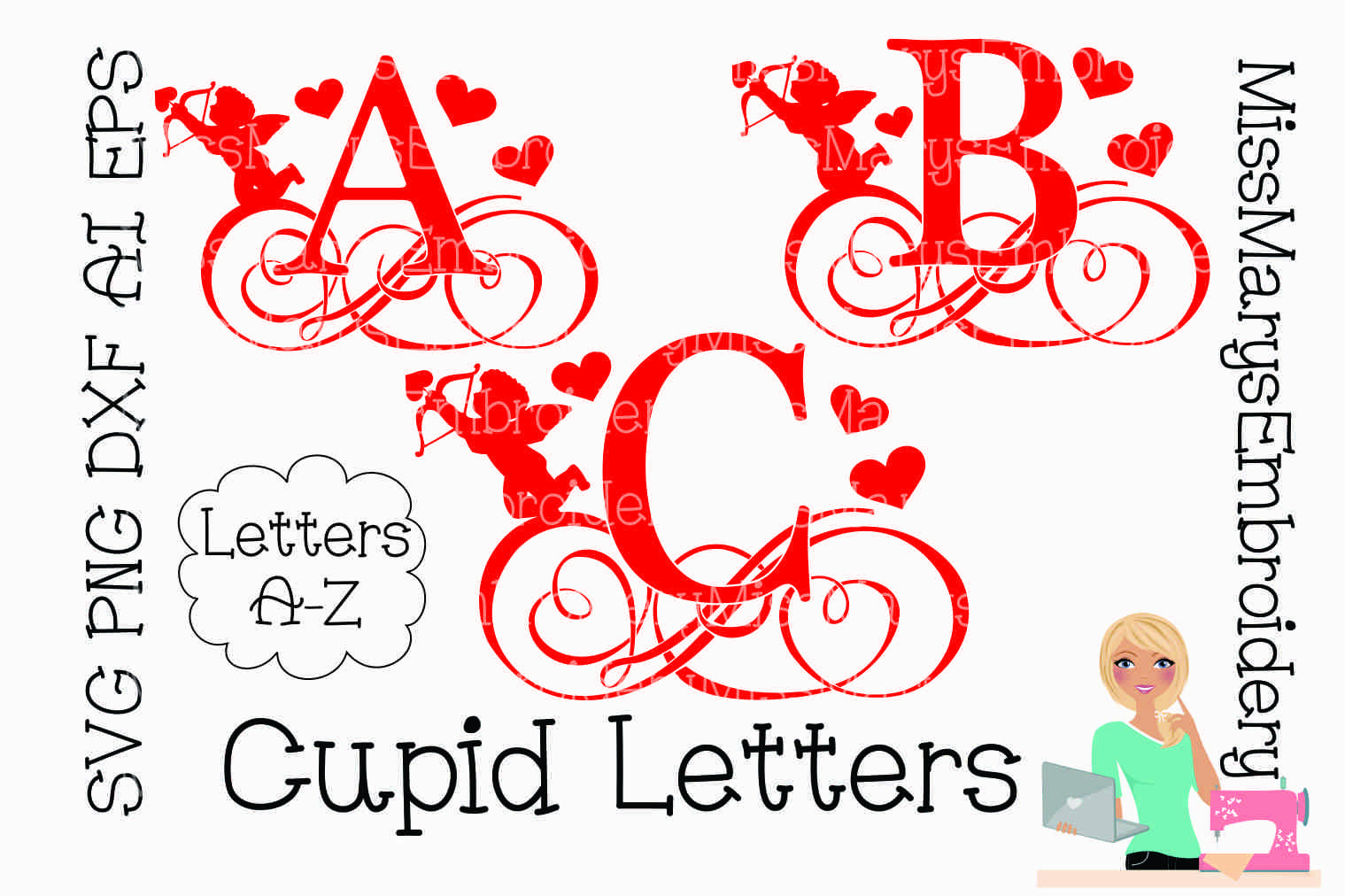 Download Split Swirl Letters – Svg, Dxf, Eps Cut Files Image