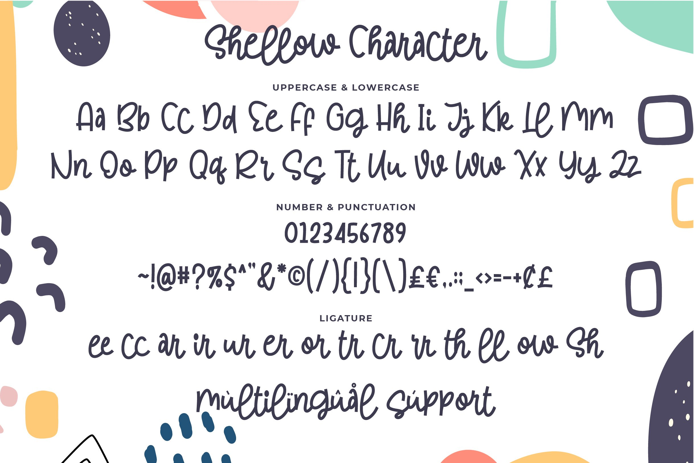 Shellow - a quirky font example image 3