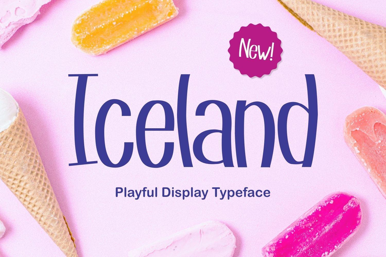 Iceland - Playful Display Typeface example image 1