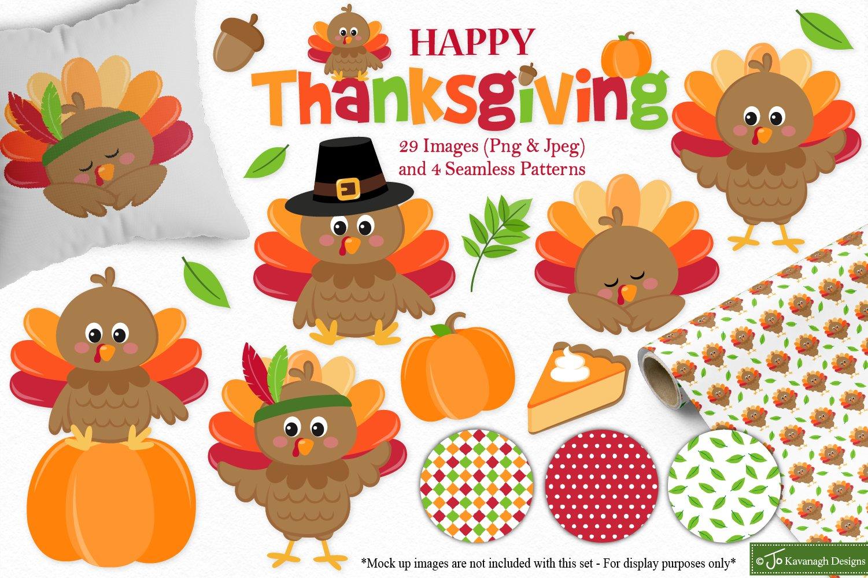 Thanksgiving clipart bundle, Fall -C41
