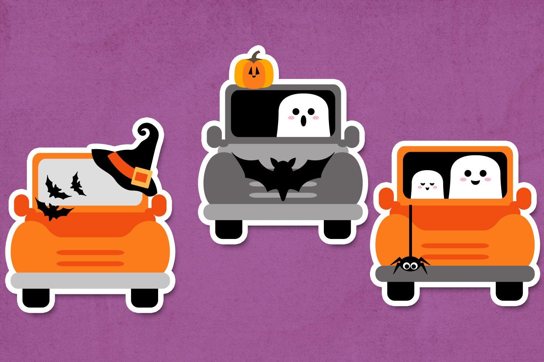 Halloween truck illustration clip art example image 2