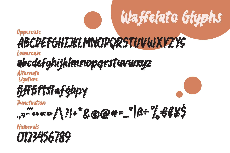 Waffelato - Inspired Font example image 2