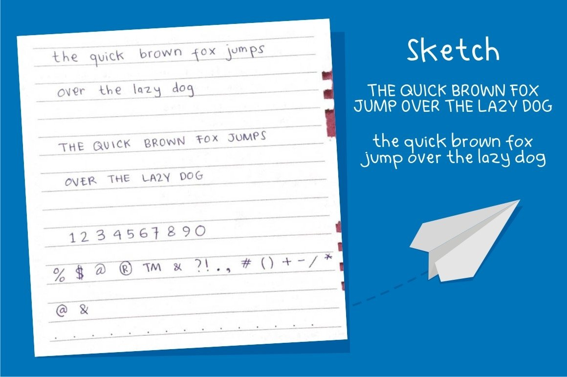 Learn to Fly - Fun Cartoon Font example image 3