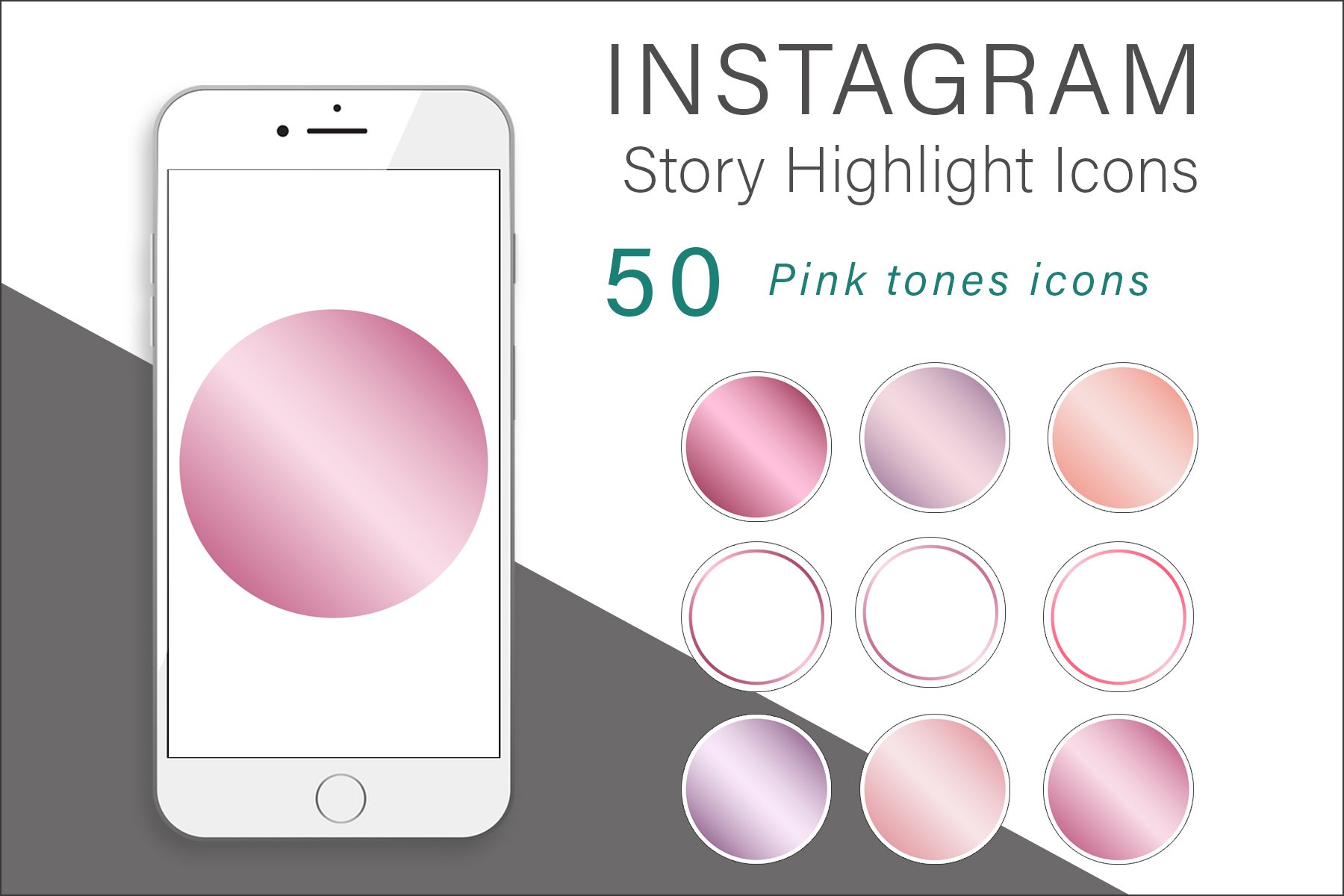 Pink Tones Instagram Highlights Icons example image 1