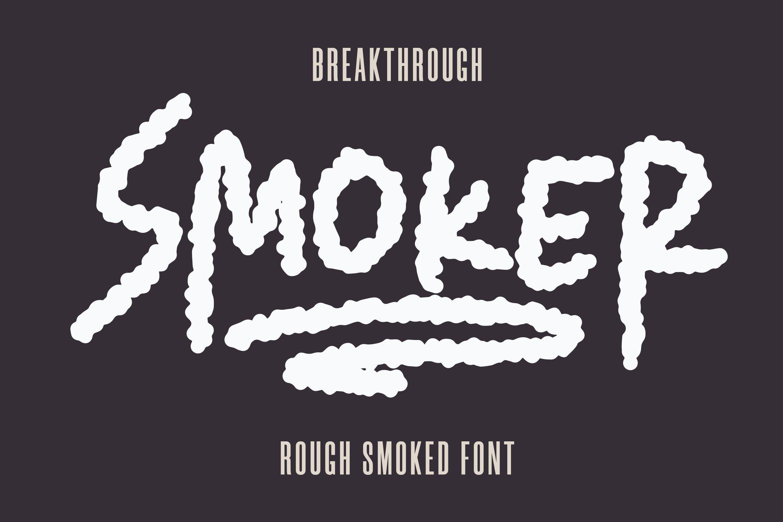 Smoker - Rough Smoked Font example image 2