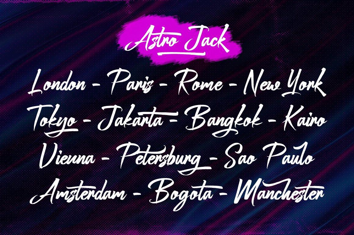 Astro Jack - Handwritten Font example image 3