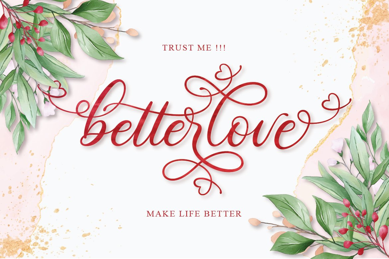 Betterlove Calligraphy example image 13