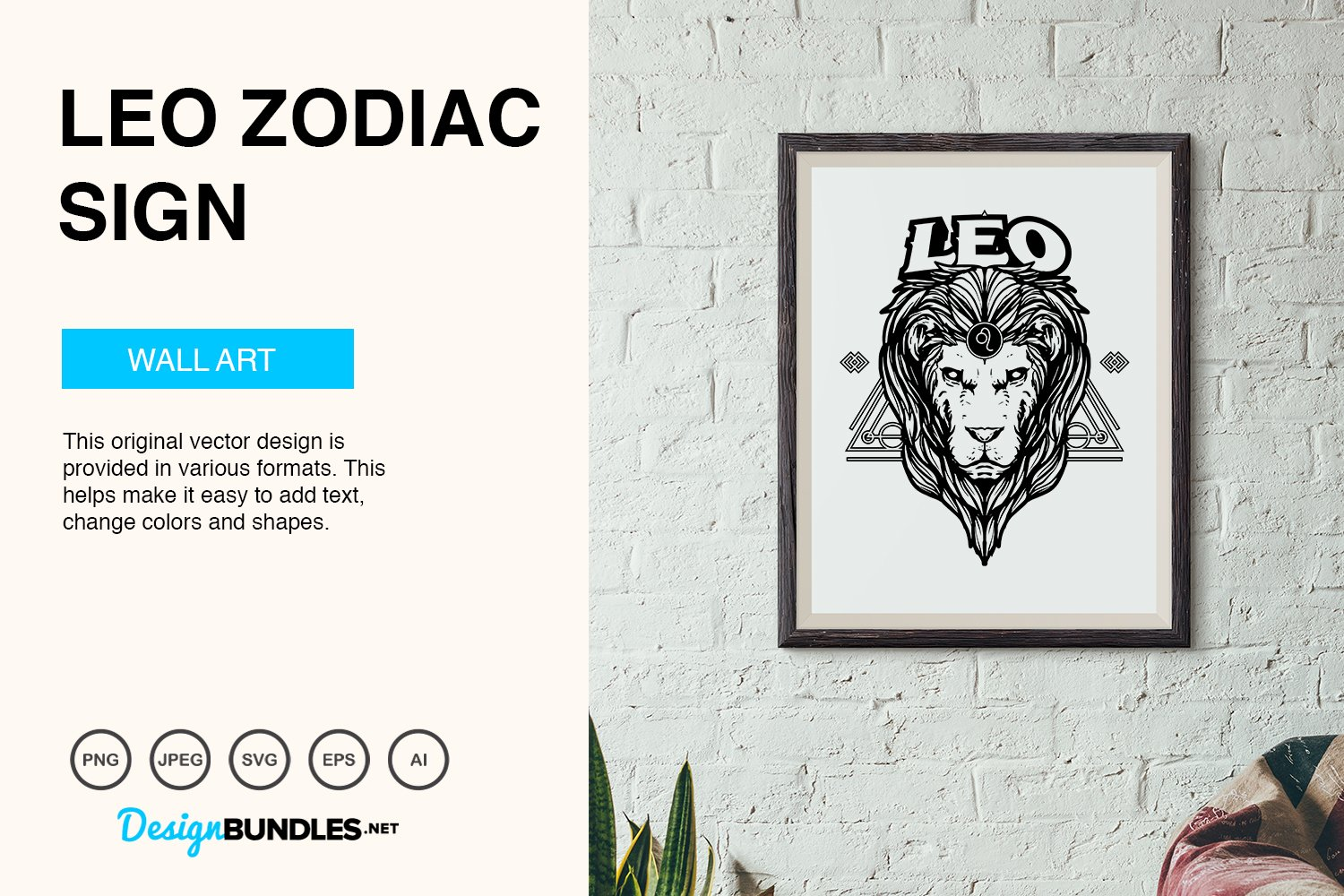 Leo Zodiac Sign Vector Illustration example image 5