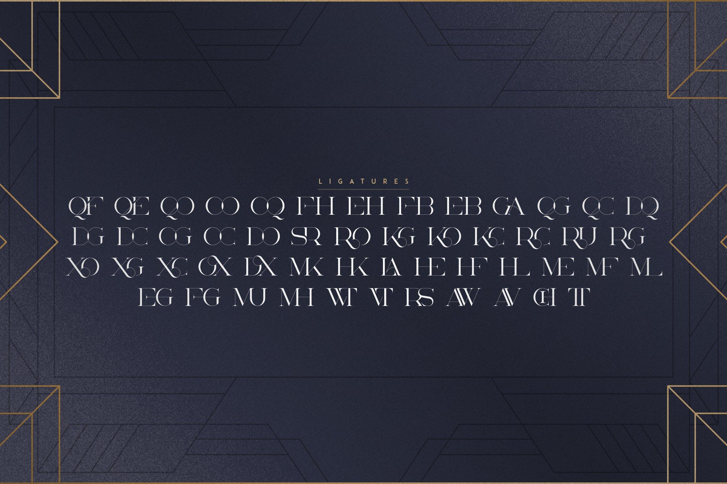 Akros - Art Deco Serif Extras example image 8
