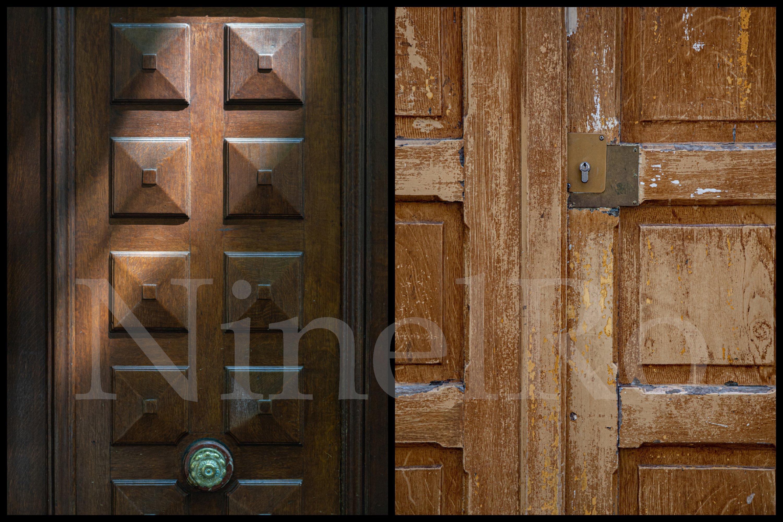 Paris door wall art set of 24 photos. Vintage wooden doors example image 4