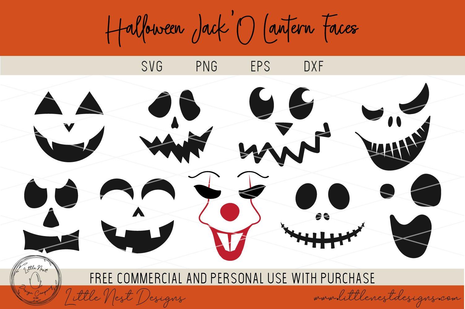 Halloween Jack O Lantern Faces Pumpkin Faces Svg Pumpkin 350159 Svgs Design Bundles