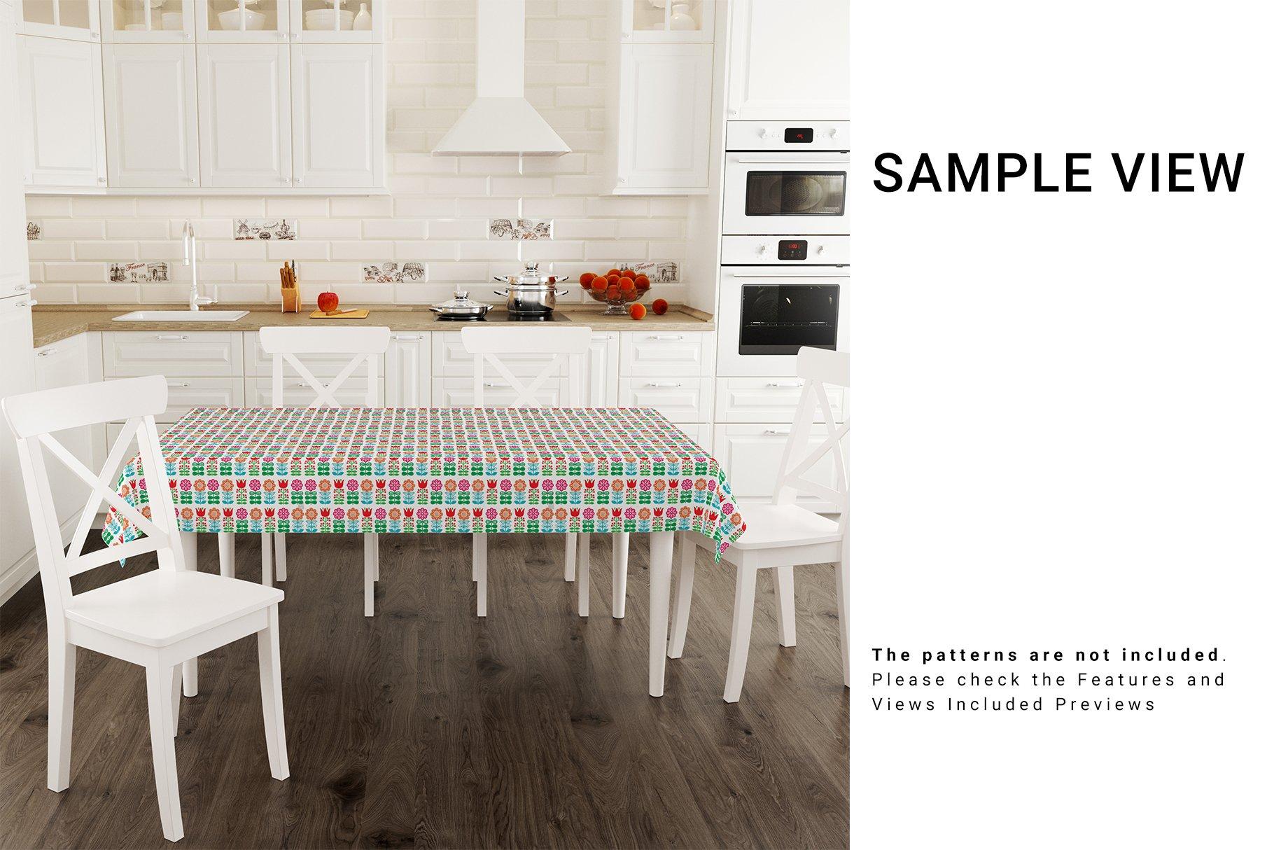 Kitchen Tablecloth 3D Mockup Set example image 5