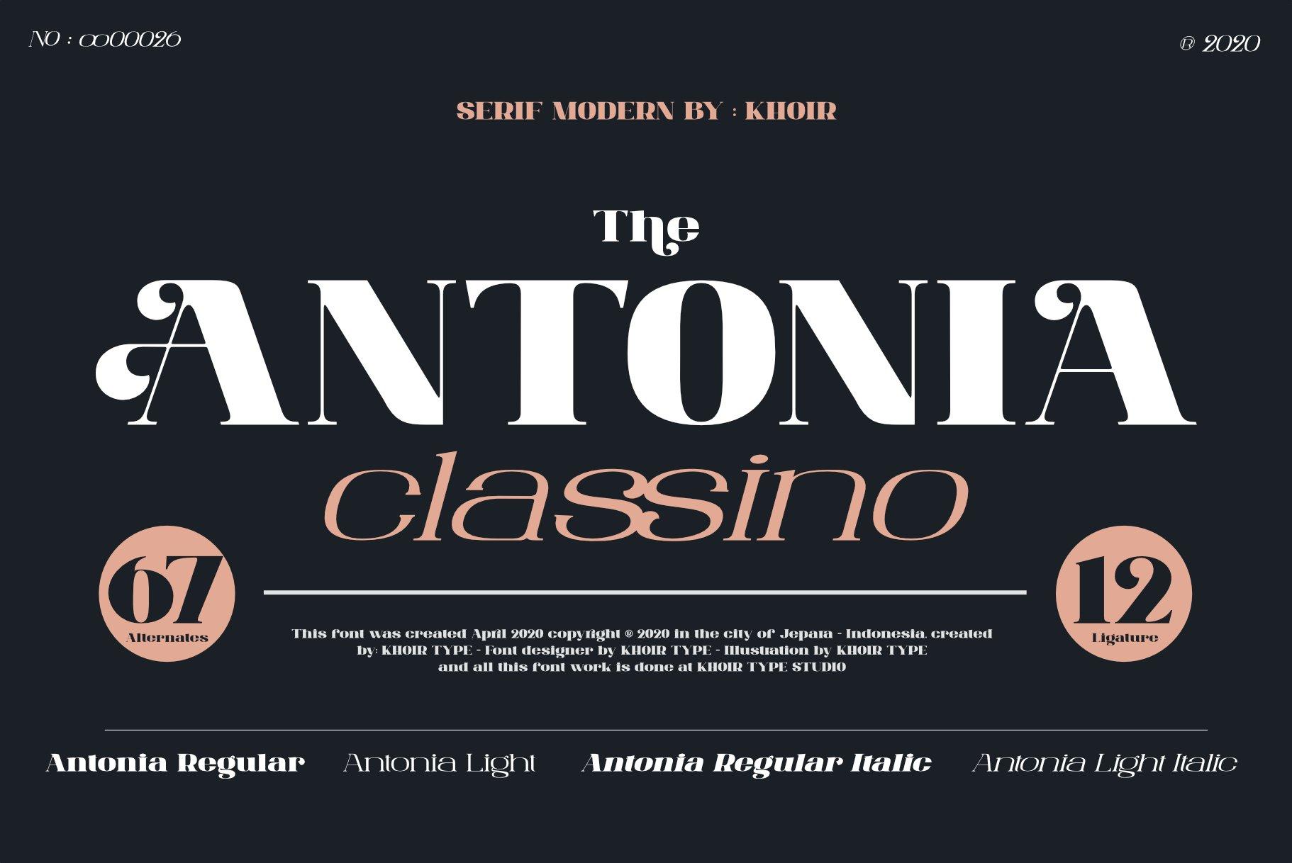 ANTONIA - The Classino Serif example image 1